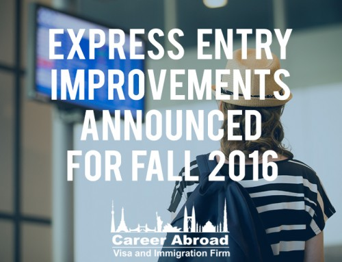 Improvements to Express Entry Announced – Fall 2016