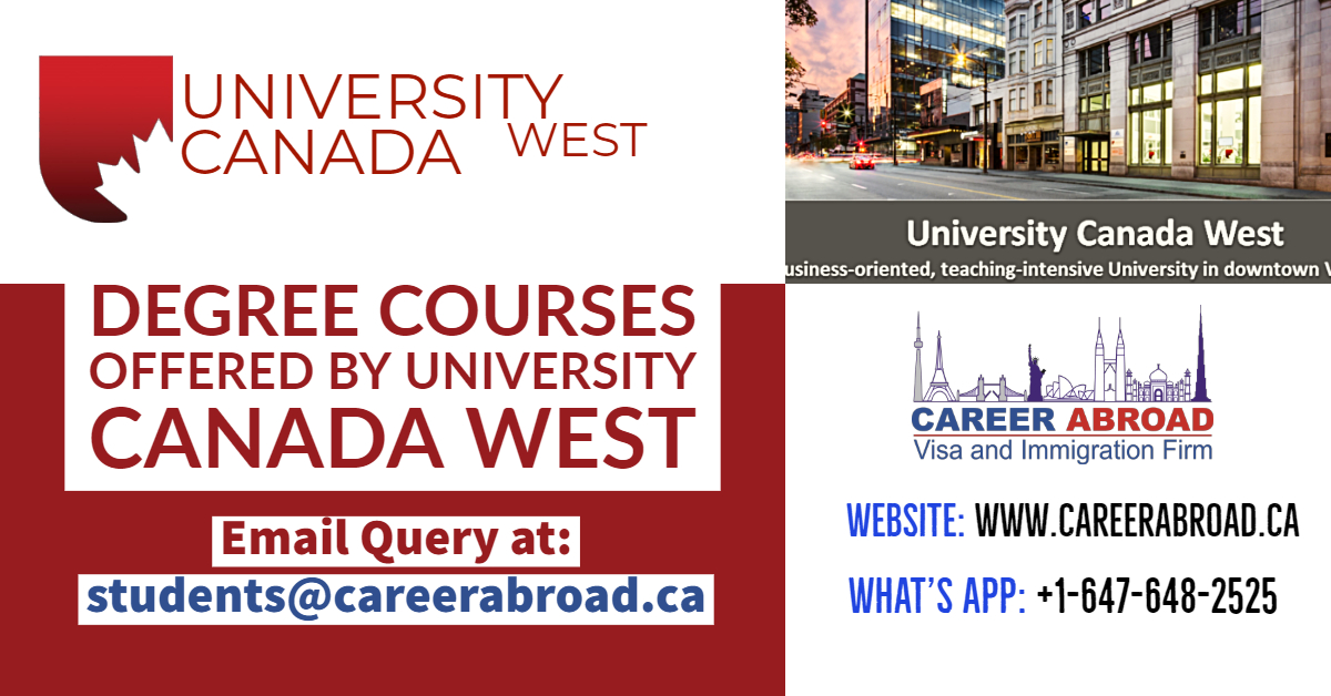 Degree Courses offer by University Canada West