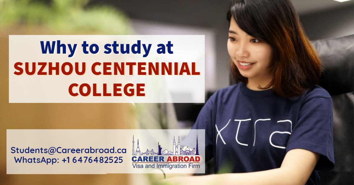 Why to study at SUZHOU CENTENNIAL COLLEGE