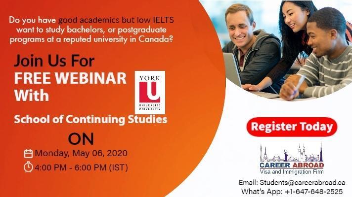 Online Webinar - Study in Canada